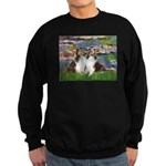 Lilies #2 / Two Shelties Sweatshirt (dark)