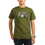 Lilies #2 / Two Shelties Organic Men's T-Shirt (da