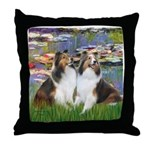 Lilies #2 / Two Shelties Throw Pillow