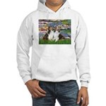 Lilies #2 / Two Shelties Hooded Sweatshirt
