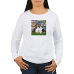 Lilies #2 / Two Shelties Women's Long Sleeve T-Shi