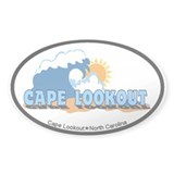 Cape Lookout NC - Waves Design Decal
