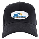 Cape Lookout NC - Waves Design Baseball Hat