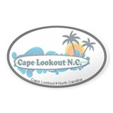 Cape Lookout NC - Surf Design Decal