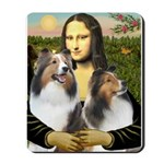 Mona Lisa / 2 Shelties (DL) Mousepad
