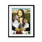 Mona Lisa / 2 Shelties (DL) Framed Panel Print