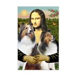 Mona Lisa / 2 Shelties (DL) Mini Poster Print