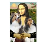 Mona Lisa / 2 Shelties (DL) Postcards (Package of
