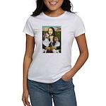 Mona Lisa / 2 Shelties (DL) Women's T-Shirt
