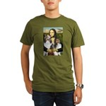 Mona Lisa / 2 Shelties (DL) Organic Men's T-Shirt