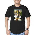 Mona Lisa / 2 Shelties (DL) Men's Fitted T-Shirt (