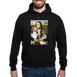 Mona Lisa / 2 Shelties (DL) Hoodie (dark)