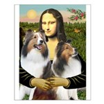 Mona Lisa / 2 Shelties (DL) Small Poster
