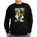 Mona Lisa / 2 Shelties (DL) Sweatshirt (dark)