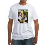 Mona Lisa / 2 Shelties (DL) Fitted T-Shirt