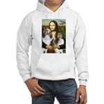 Mona Lisa / 2 Shelties (DL) Hooded Sweatshirt