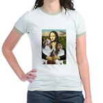 Mona Lisa / 2 Shelties (DL) Jr. Ringer T-Shirt