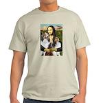 Mona Lisa / 2 Shelties (DL) Light T-Shirt