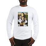 Mona Lisa / 2 Shelties (DL) Long Sleeve T-Shirt