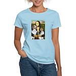 Mona Lisa / 2 Shelties (DL) Women's Light T-Shirt