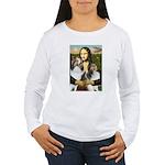 Mona Lisa / 2 Shelties (DL) Women's Long Sleeve T-