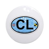 Cape Lookout NC - Oval Design Ornament (Round)