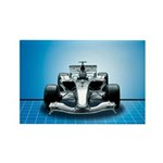 Ultimate Speed Machine - F1 Rectangle Magnet (10 p