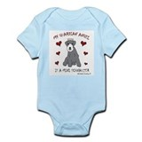 miniature schnauzer Infant Bodysuit