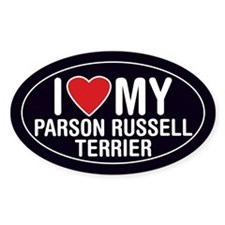 Parson Russell Terrier Oval Sticker/Decal