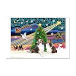 Xmas Magic / 2 Shelties (dl) Mini Poster Print