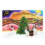 Xmas Music / 2 Shelties Postcards (Package of 8)