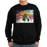 Xmas Music / 2 Shelties Sweatshirt (dark)