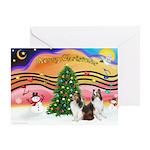Xmas Music / 2 Shelties Greeting Card