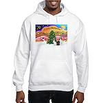 Xmas Music / 2 Shelties Hooded Sweatshirt