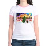 Xmas Music / 2 Shelties Jr. Ringer T-Shirt