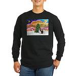 Xmas Music / 2 Shelties Long Sleeve Dark T-Shirt