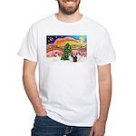 Xmas Music / 2 Shelties White T-Shirt