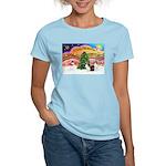 Xmas Music / 2 Shelties Women's Light T-Shirt