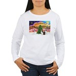 Xmas Music / 2 Shelties Women's Long Sleeve T-Shir
