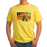 Xmas Music / 2 Shelties Yellow T-Shirt