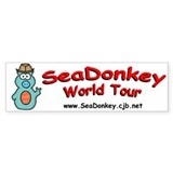 SeaDonkey World Tour Bumper Bumper Sticker