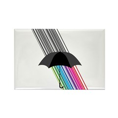 Rainbow Rectangle Magnet (100 pack)