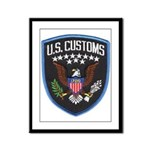 United States Customs Framed Panel Print