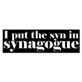 I put the SYN in synagogue.