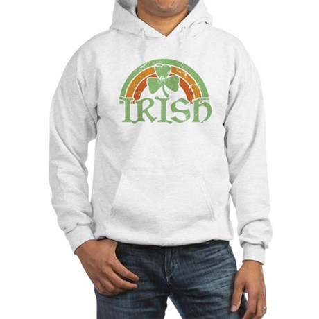 Vintage Irish Rainbow Hooded Sweatshirt
