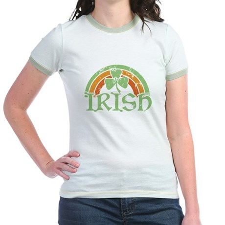 Vintage Irish Rainbow Jr. Ringer T-Shirt