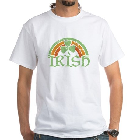 Vintage Irish Rainbow White T-Shirt