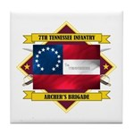 7th Tennessee Infantry Tile Coaster