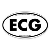 ECG European Style Oval Decal