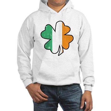 Vintage Irish Shamrock Hooded Sweatshirt